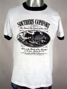 great 80s southern comfort booze ringer t shirt m