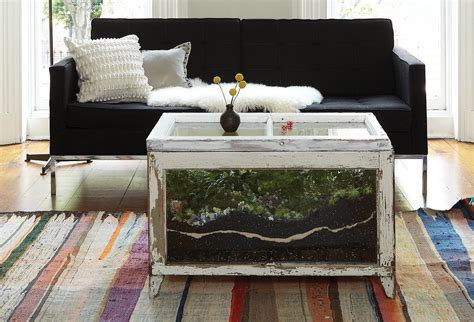 terrarium table repurposed lobster trap into coffee table lobster trap