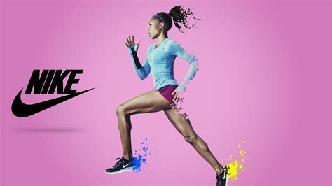 wallpaper nike running girl sports