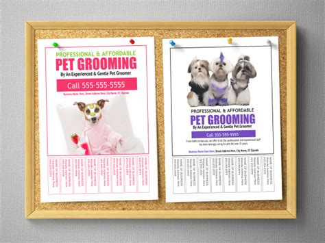 bulletin board flyer template pet grooming bulletin board flyer templates