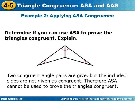 how do you indicate congruent angles in a diagram objective swbat prove triangles congruent by using and