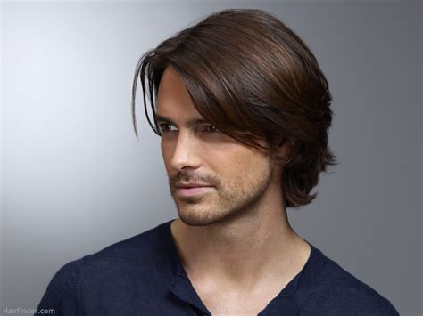 best mens hairstyles for long hair men s hairstyle with ear long top hair and curls that curl