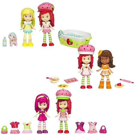 Figure Mainan Strawberry Shortcake Family strawberry shortcake story in a box figures wave 2 hasbro strawberry shortcake mini