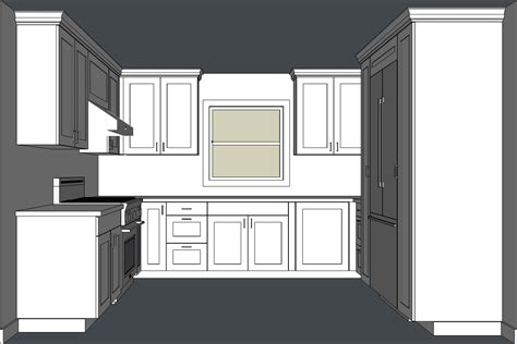 Draw Kitchen Cabinets Designing Kitchen Cabinets With Sketchup Popular