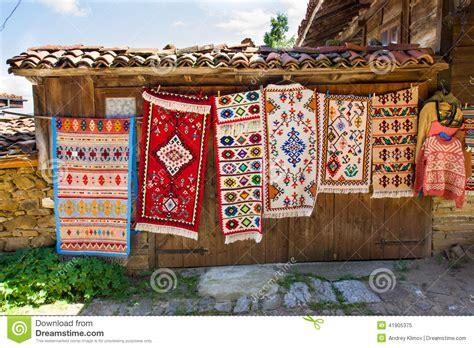 Tapis Entrée Maison by Vernissage Rural De Tapis En Bulgarie Photo Stock Image
