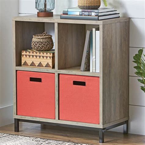 better homes storage cube better homes and gardens square 4 cube storage organizer with metal base finishes