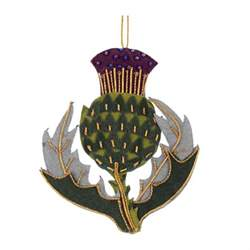 scottish thistle christmas tree decoration