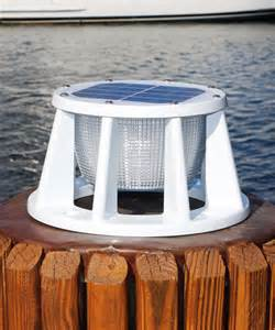boat solar lights marine or boating solar piling lights