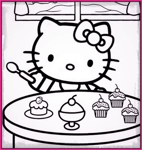 dibujos infantiles kitty dibujos de hello kitty para colorear e imprimir con