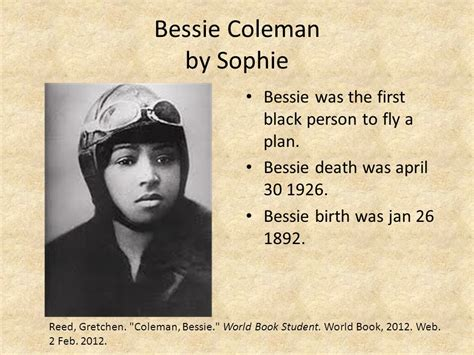 biography in spanish of bessie coleman meet the u s presidents eastside 4th grade classes ppt
