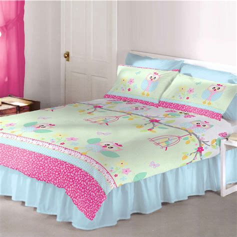 girls owl bedding owls twit twoo double duvet cover set girls bedding new owl