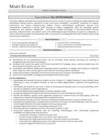 Customer Service Manager Resume Exles by Resume Customer Service Manager