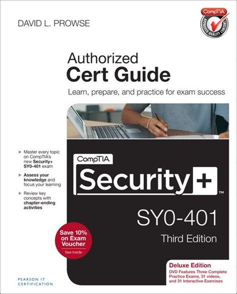 comptia security certification bundle third edition sy0 501 books comptia security sy0 401 cert guide deluxe edition 3rd