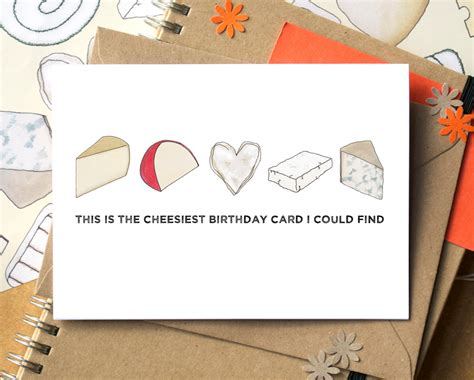 Cheesy Card Templates by Cheesy Birthday Card Birthday Card Card For Cheese