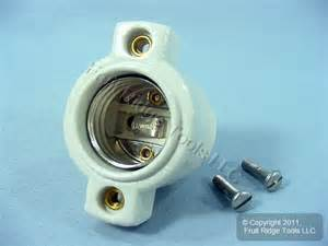 leviton porcelain front mount l holder light socket