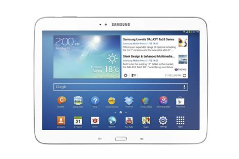 Samsung Tab 3 Yang 10 Inchi samsung announces the galaxy tab 3 in 8 inch and 10 1 inch