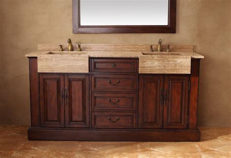 Scratch And Dent Bathroom Vanities with Scratch And Dent 72 Inch Sink Bathroom Vanity In Cherry Clruvjmf206001552572