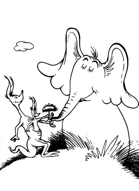 coloring pages horton the elephant horton hears a who coloring page coloring home