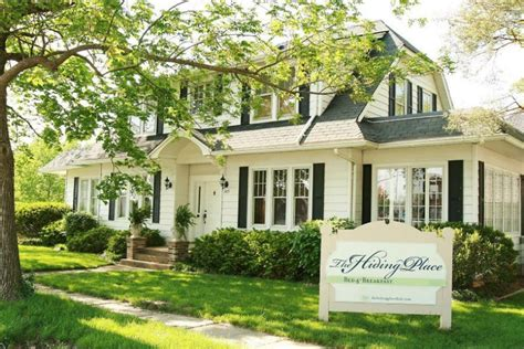 missouri bed and breakfast home page the hiding place