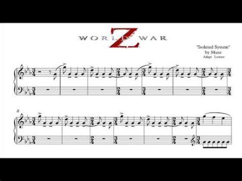 theme music world war z worl war z partitura sheet music youtube