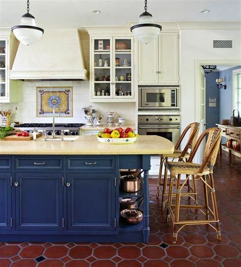 White And Blue Kitchen Cabinets Blue Kitchen Design Ideas Cobalt Blue Islands And Cabinets
