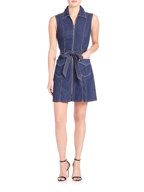 7 for all mankind tropez belted zip front denim