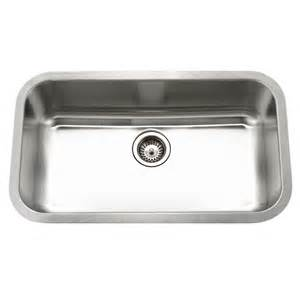 Houzer Kitchen Sinks Shop Houzer Eston 31 375 In X 31 375 In Lustrous Satin Single Basin Stainless Steel Undermount