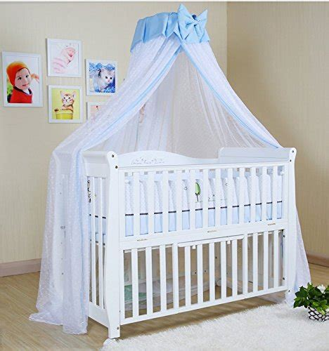 Baby Crib Canopy Netting Baby Mosquito Net Baby Toddler Bed Crib Dome Canopy Netting Butterfly Blue New Ebay