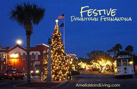 anelia island tree lighting festive fernandina events amelia island e magazine
