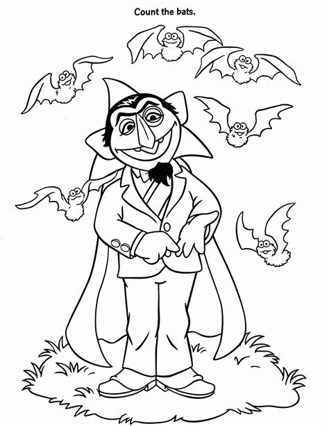 count von count coloring pages coloring home