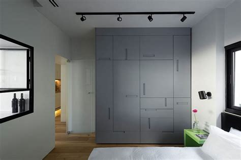 Bedroom Wardrobe Handles by Custom Bedroom Wardrobe With Uniquely Placed Handles Decoist