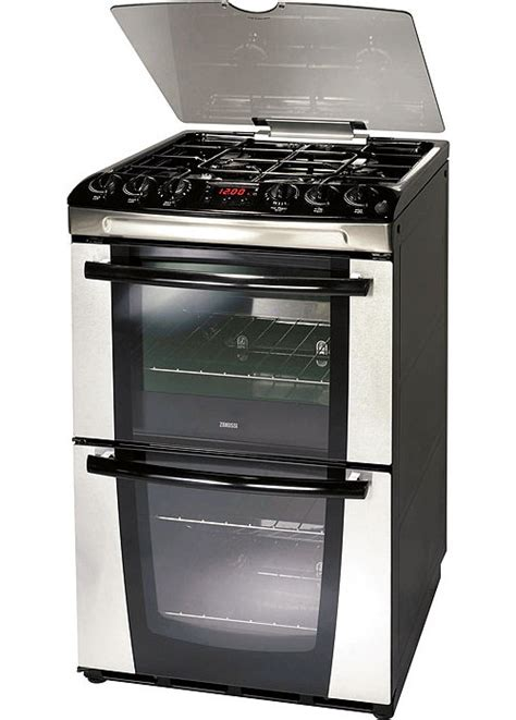 Dapur Gas Oven Zanussi buy zanussi zkg5540xfn gas cooker with oven stainless steel marks electrical