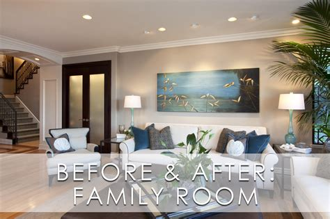 family room decor glamorous modern family room before and after robeson design san diego interior designers