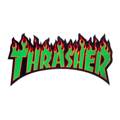 Kaos Thrasher Free Sticker 1 thrasher sticker large in black green at revert