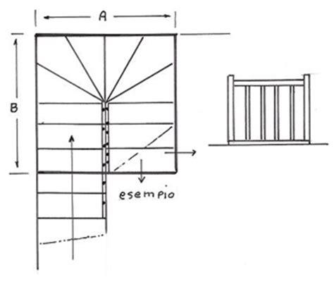 ingombro scale interne scale a chiocciola quadrate prezzi scala a chiocciola