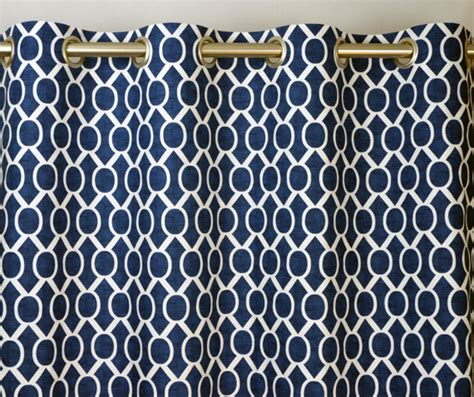 navy blue geometric curtains items similar to navy blue white modern geometric