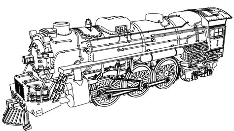 long train coloring page very detail illustration train coloring page pages for