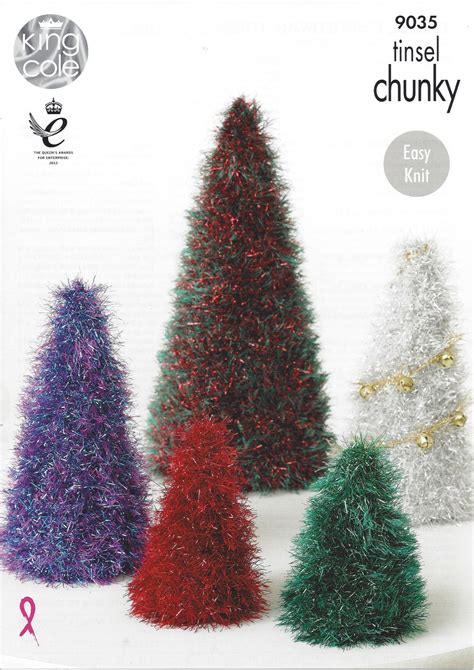 pattern for a christmas tree king cole tinsel chunky 9035 tinsel christmas trees and