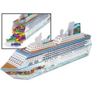 cruise ship centerpiece favor box nautical