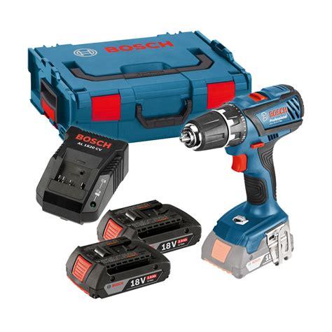 cordless ls bosch gsb 18 2 li plus 18v combi drill inc 2x 2 0ah batteries in l boxx 06019e7170 powertool world