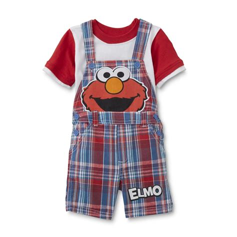 Supplier Fashion Realpict Elmo Dres By Rasya sesame elmo infant boys t shirt shortalls colorblock baby baby toddler