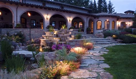 outdoor landscaping lighting landscape lighting design designscapes colorado