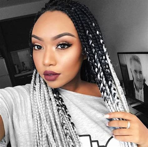 black hair styles to wear when your hair is growing out 7 inspirational ways to wear single box braids for major