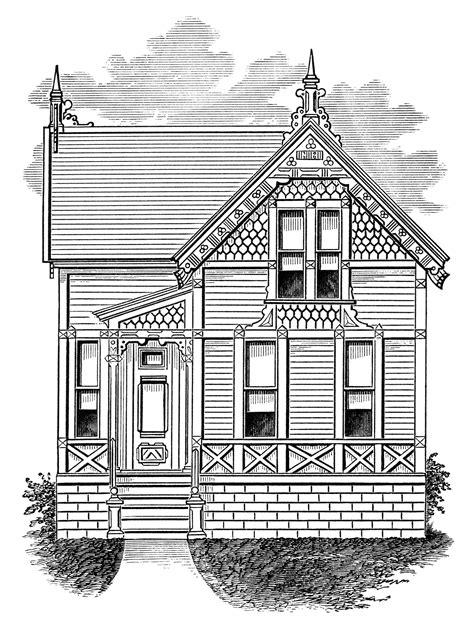 cozy story and a half vintage cottage free clip art old design shop blog
