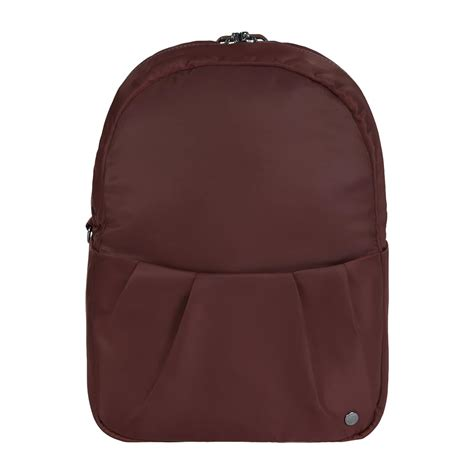 Backpack Pacsafe anti theft backpack citysafe 174 cx in merlot by pacsafe