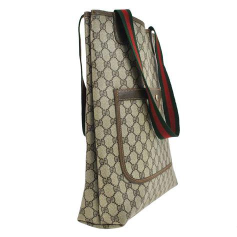 Ransel Gucci Louis Vuitton Burberry 802 gucci gg supreme vintage web brown pvc leather tote bag totes on sale