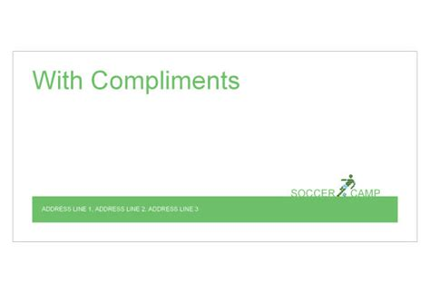 with compliments card template soccer sports c print template pack from serif