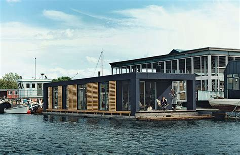 floating homes a modern and compact floating home in copenhagen
