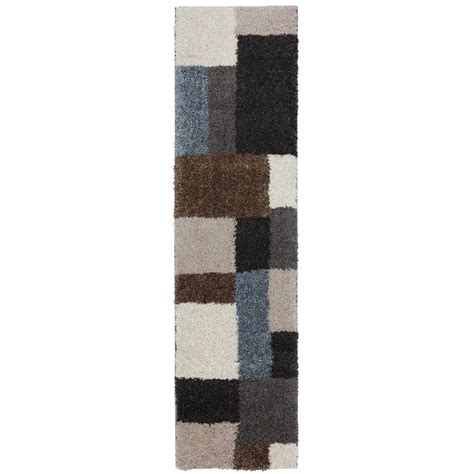 Mohawk Runner Rug with Mohawk Home Franklin Gray Black 2 Ft X 7 Ft 10 In Rug Runner 437497 The Home Depot