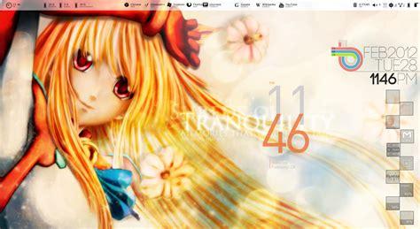pc themes anime rainmeter desktop anime theme by roshans by roshansonaje